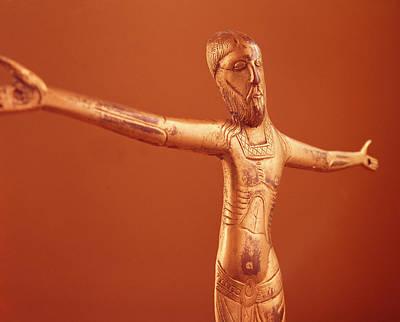 Crucified Photograph - Corpus Christi, C.1240 Bronze Gilt by French School