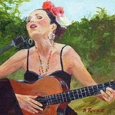 Singer Painting - Corrido by Bonnie Rinier
