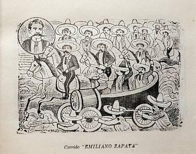 Corrido Emiliano Zapata, Mexican Print by Everett