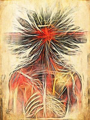 Cortex Man Print by Russell Pierce
