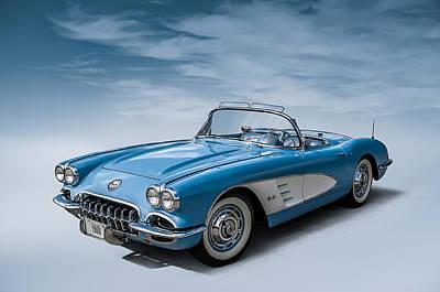 1960 Digital Art - Corvette Blues by Douglas Pittman