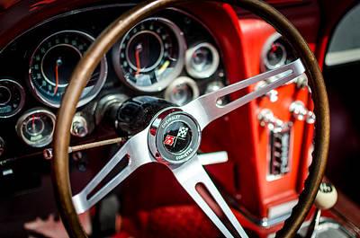 Corvette Steering Wheel Print by David Morefield