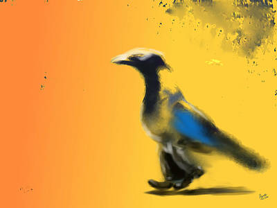 Buy Digital Art - Corvus Out For A Walk by Marcello Cicchini