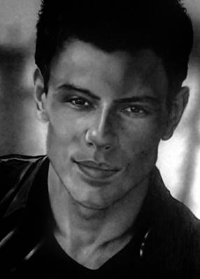Drawing - Cory Monteith 1982-2013 by Carl Baker