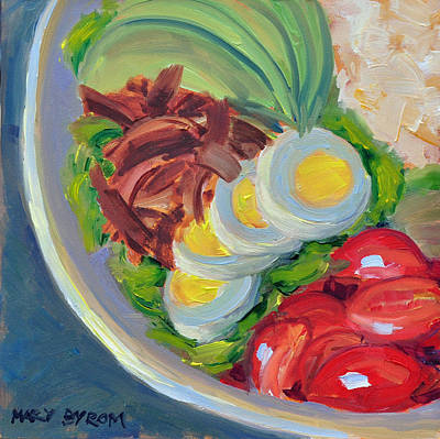 Painting - Coscob Salad by Mary Byrom