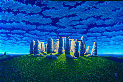 Megalith Painting - Cosmic Circle by Thom Loafman