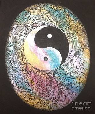 Cosmic Conception Print by Karen Hamby