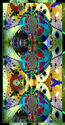 Cuckoo Mixed Media - Cosmic Cuckoo Clock by Robert Kernodle
