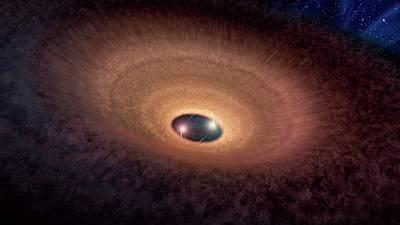 Cosmic Dust Surrounding Stars Print by Nasa/jpl-caltech/r. Hurt (ipac)