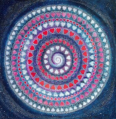 Tantra Painting - Cosmic Heart by Agnieszka Szalabska