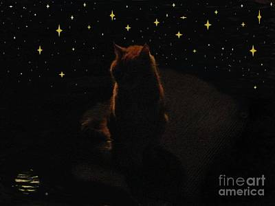 Painting - Cosmic Kitty by Jacquelyn Roberts