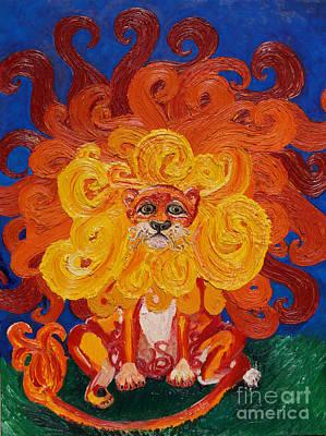 Cosmic Lion Original by Cassandra Buckley