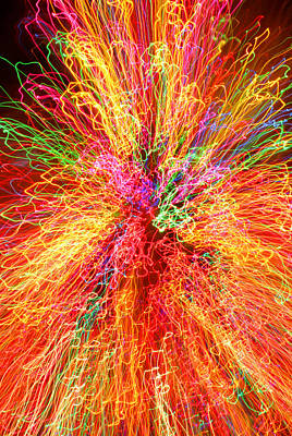 Cosmic Phenomenon Or Christmas Lights Print by Barbara West