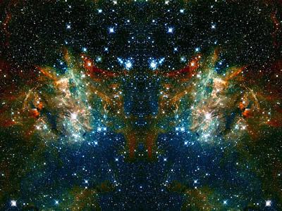 Cosmic Phoenix  Print by Jennifer Rondinelli Reilly - Fine Art Photography