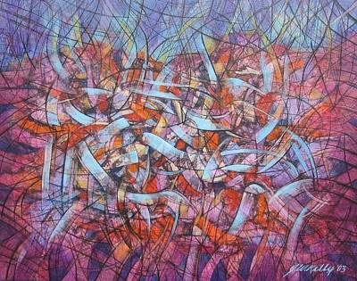Free Form Painting - Cosmic Ribbons by J W Kelly
