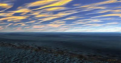 Cosmic Sky Print by Wayne Bonney