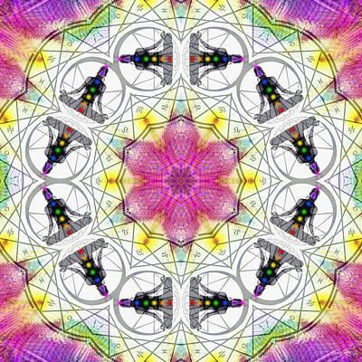 Sacred Geometry Digital Art - Cosmic Spiral Kaleidoscope 11 by Derek Gedney
