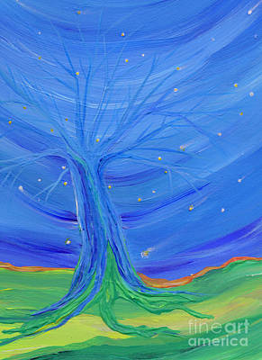 Subconscious Painting - Cosmic Tree by First Star Art
