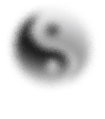 Cosmic Yin Yang Print by Daniel Hagerman