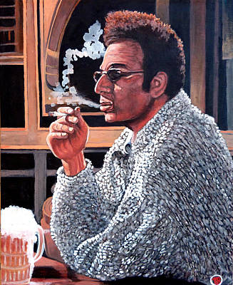Tr Painting - Cosmo Kramer by Tom Roderick