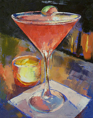 Martini Painting - Cosmopolitan by Michael Creese