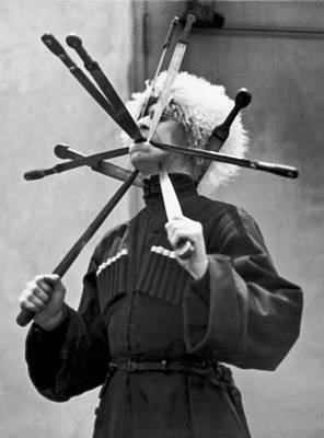 Cossack Sword Performer Print by Underwood Archives