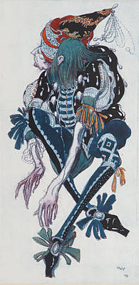 Costume Design For The Pageboy Print by Leon Bakst