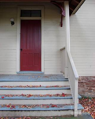 Cozy Cottage Door Original by Donna Cavanaugh