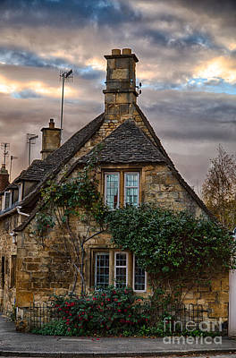Cotswold Cottage Print by Jennifer Styrsky