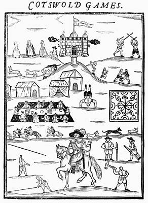 Cotswold Games, 1636 Print by Granger