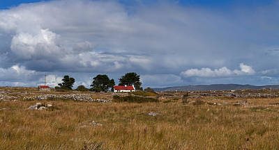Connemara Photograph - Cottage And Rocky Barren Landscape by Panoramic Images