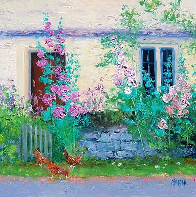 House Painting - Cottage Garden By Jan Matson by Jan Matson
