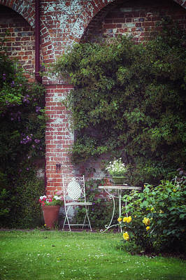 Cottage Chairs Photograph - Cottage Garden by Joana Kruse