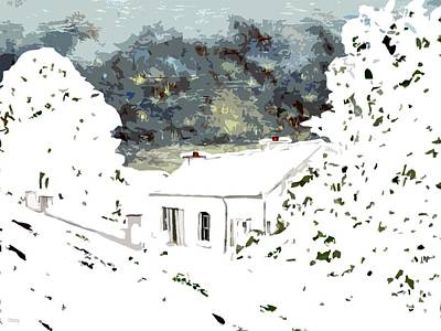 Snow-covered Landscape Mixed Media - Cottage In The Snow by Patrick J Murphy