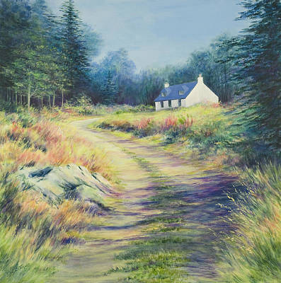 Dee Painting - Cottage Near Linn Of Dee by Stella Turner