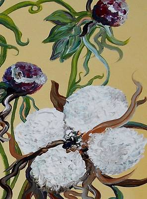 The Cotton Field Painting - Cotton Boll Solo by Eloise Schneider