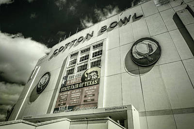 Cotton Bowl Print by Joan Carroll