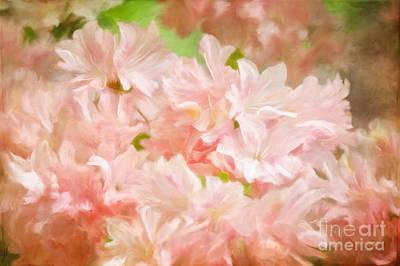 Candy Digital Art - Cotton Candy Pink Azaleas by Lois Bryan