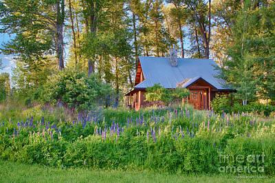 Cottonwood Cottage Spring 2014 Photographs Taken By Omaste Witko Print by Omaste Witkowski