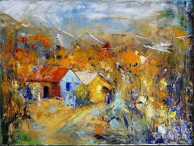 Quebec Painting - Couleurs D'automne by Aline Halle-Gilbert