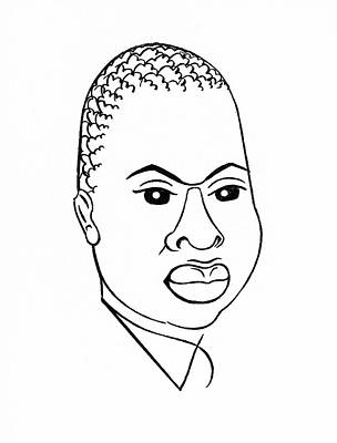 Black Tie Drawing - Countee Cullen (1903-46) by Granger