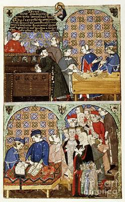 Lender Photograph - Counting House, 14th-century Manuscript by British Library