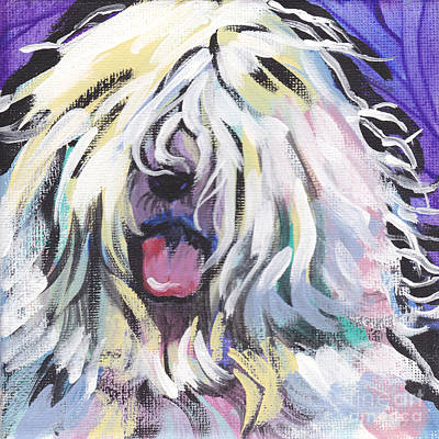 Puppy Painting - Counting Sheepie  by Lea S