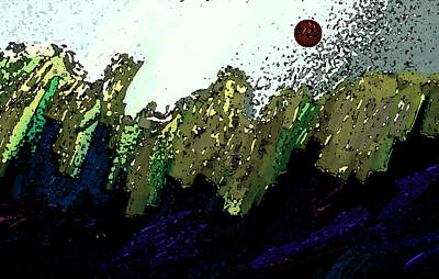Country Abstract Print by Lenore Senior