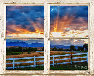 Country Beams Of Light Barn Picture Window View Print by James BO  Insogna