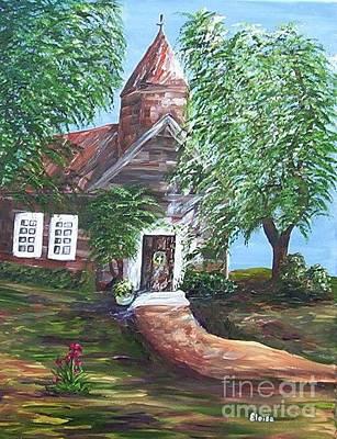 Country Church Print by Eloise Schneider