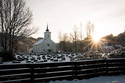 Winter Promise Digital Art - Country Church by Sara  Jones