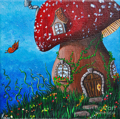 Country Cottage Print by Kyra Wilson