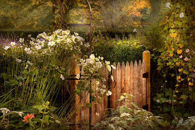 Country Photograph - Country - Country Autumn Garden  by Mike Savad