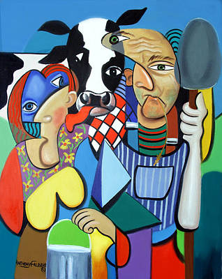 Country Cubism Print by Anthony Falbo